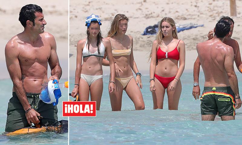 EXCLUSIVA: Luis Figo presume de hijas en las playas de Ibiza