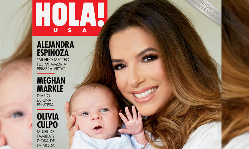 Exclusiva mundial en HOLA! USA: Eva Longoria Bastón, en casa con su bebé Santiago Enrique