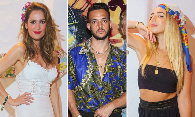 Carles Puyol y Vanesa Lorenzo, Mar Saura o Mimi de OT, contagiados por el espíritu 'Flower Power' en Ibiza