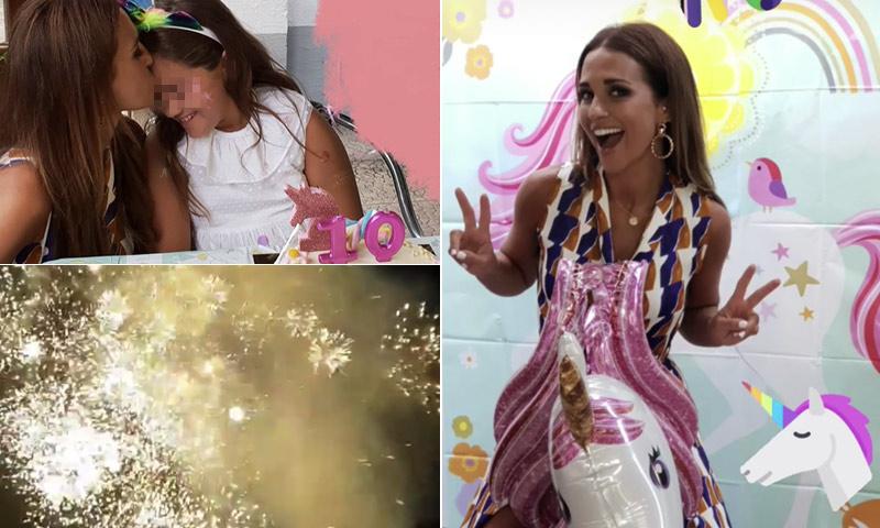 Fuegos artificiales, unicornios y el baile de moda en el cumpleaños de Daniella Bustamante