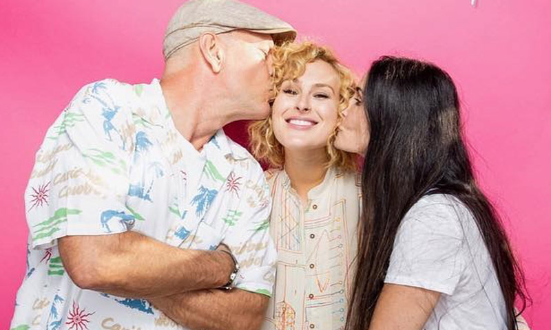 Demi Moore y Bruce Willis, juntos de nuevo por su hija