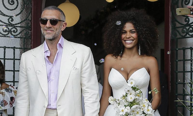 La boda del actor Vincent Cassel con una modelo treinta años más joven que él