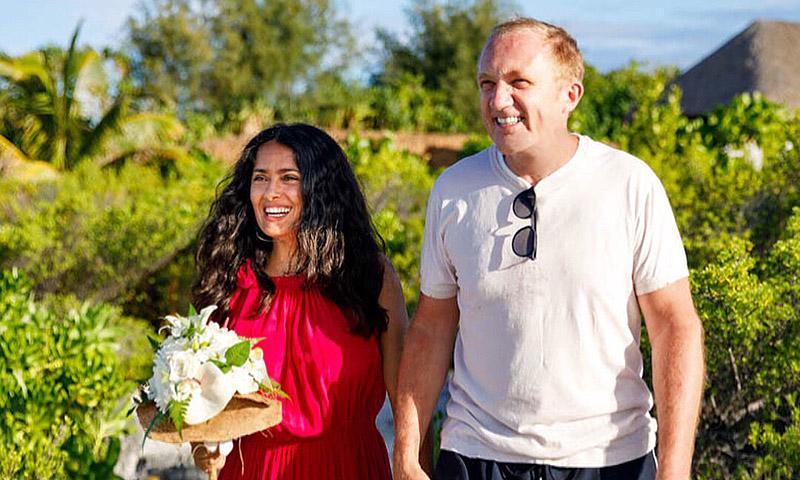 La boda sorpresa de Salma Hayek y Francois-Henri Pinault en Bora Bora