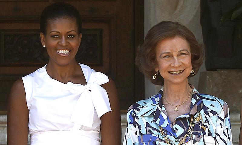 Doña Sofía y Michelle Obama almuerzan juntas en Mallorca