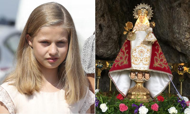 La 'Santina' lucirá un manto rojo ante la Princesa Leonor el próximo sábado
