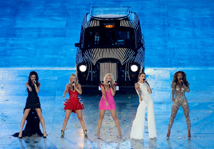 Las Spice Girls durante la clausura de los Juegos Olímpicos de Londres