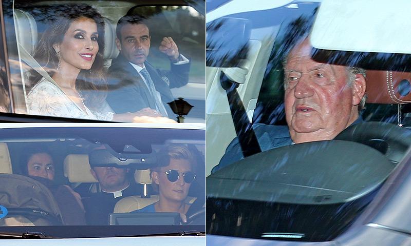 El rey Juan Carlos asiste al bautizo de Carlos, el hijo de María Zurita