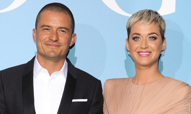 Orlando Bloom y Katy Perry, primer posado como pareja ante la Familia Real de Mónaco