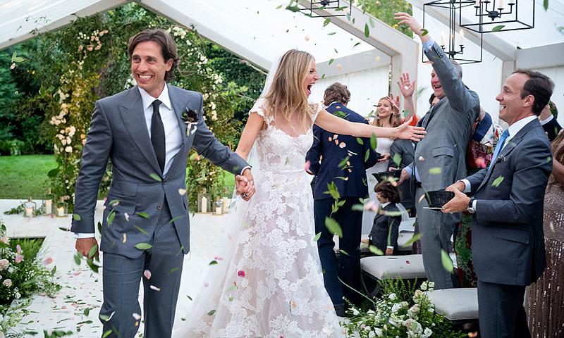 Gwyneth Paltrow comparte las primeras imágenes de su romántica boda con Brad Falchuk