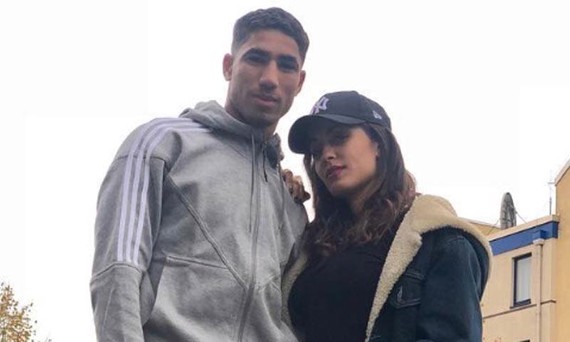 Hiba Abouk felicita a su novio, el futbolista Achraf Hakimi, con una dedicatoria de lo más deportiva