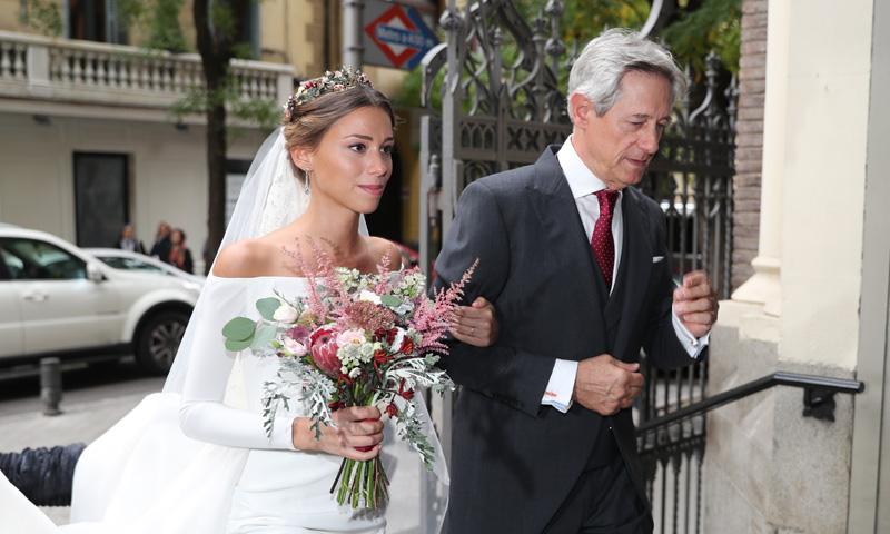 Josema Yuste, un emocionado padrino en la boda de su hija Ana