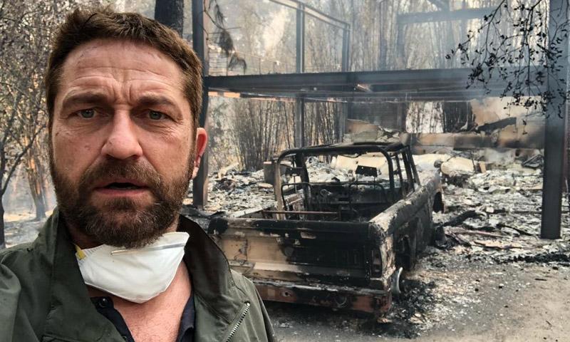 Así han vivido Gerard Butler, Charlie Sheen o Lady Gaga la catástrofe de los incendios en California