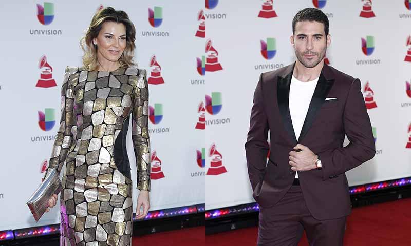 Desfile de españoles en la alfombra roja de los Grammy Latinos