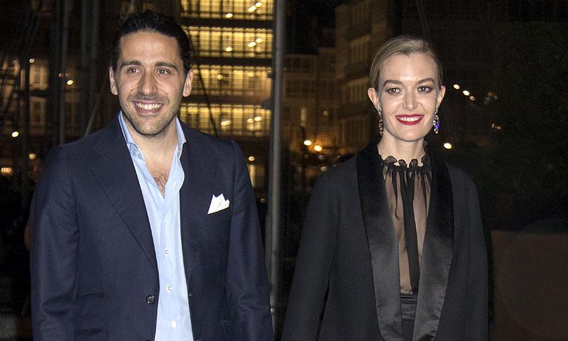 Marta Ortega y Carlos Torretta, radiantes en el cóctel de celebración del Real Club Naútico