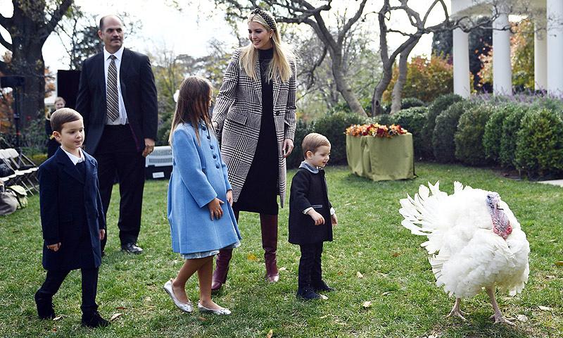 La vuelta de Barron, las travesuras de los hijos de Ivanka... Los Trump celebran Acción de Gracias