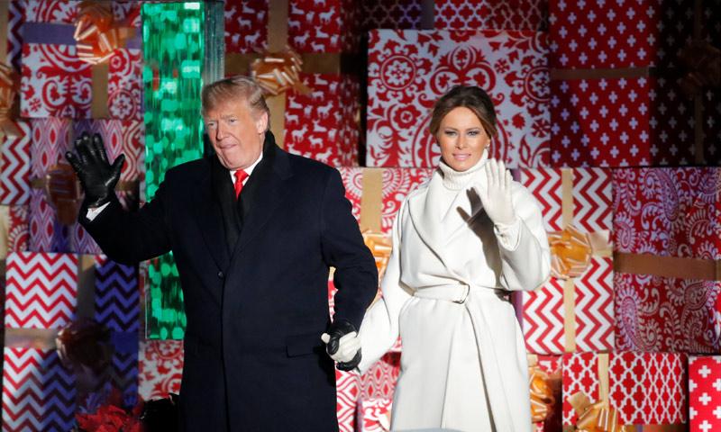 ¡Ya es Navidad en Washington! Los Trump inauguran el tradicional y esperado encendido de luces