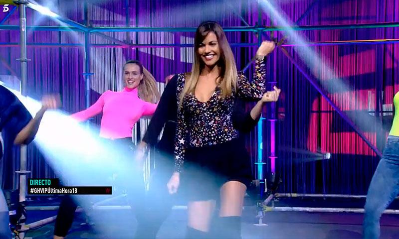 Lara Álvarez inaugura la prueba semanal de 'GH VIP' mostrando sus habilidades para el baile