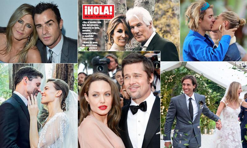 2018, un año de grandes bodas y divorcios en Hollywood