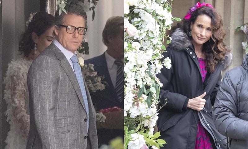 Primeras imágenes del reencuentro de Hugh Grant y Andie Macdowell tras 'Cuatro bodas y un funeral'