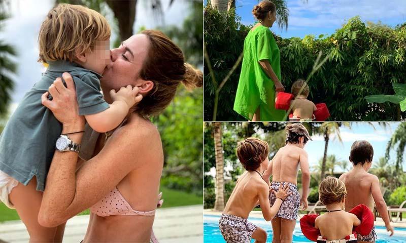 La atípica Navidad de Amelia Bono y su familia ¡en bañador!