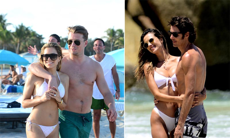 Sylvie Meis y Alessandra Ambrosio comienzan el año presumiendo de sus respectivas parejas y de 'cuerpazo' en la playa
