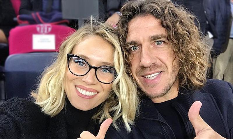 Carles Puyol se pone romántico para felicitar a la 'capitana' de su familia