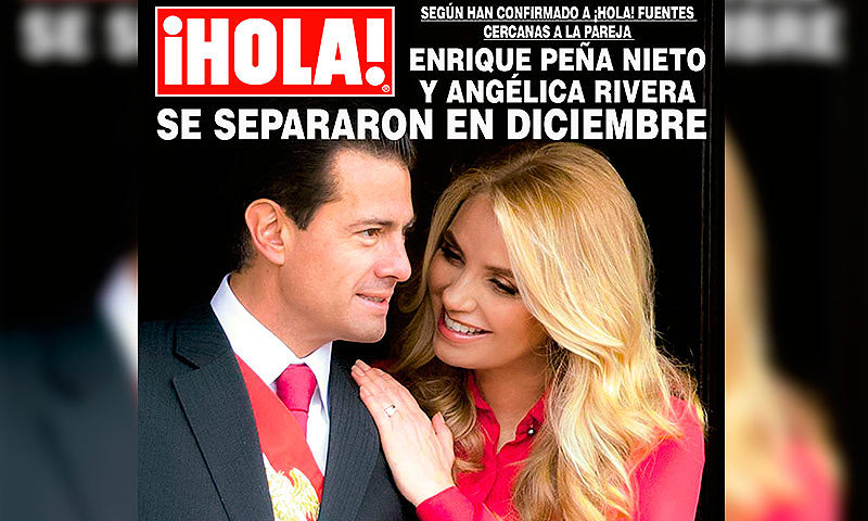En ¡HOLA! México: el expresidente mexicano Enrique Peña Nieto y Angélica Rivera se separaron en diciembre