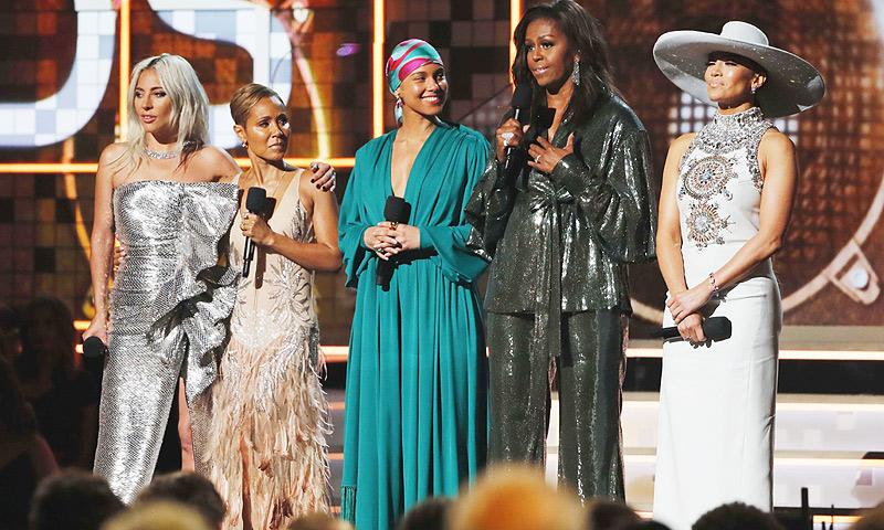 La aparición sorpresa de Michelle Obama que revolucionó los Grammy