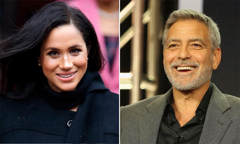 George Clooney sale en defensa de la duquesa Meghan