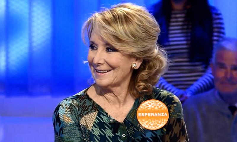 'Con la c...', el comentado debut de Esperanza Aguirre en 'Pasapalabra'