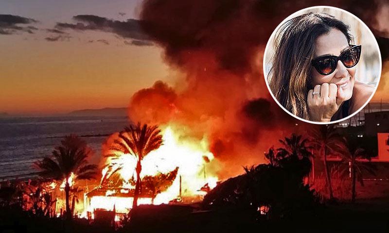 Duro golpe para María Bravo: se incendia su famoso chiringuito en Marbella