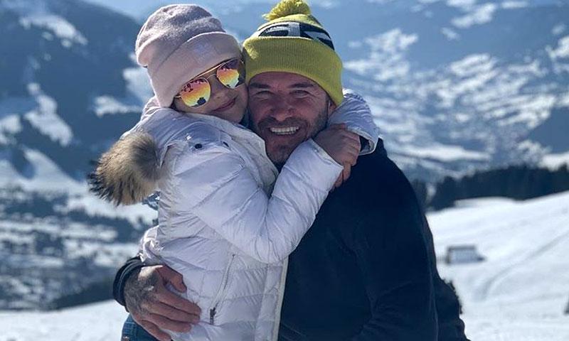 Los Beckham al completo disfrutan de un fin de semana de deporte y diversión en la nieve