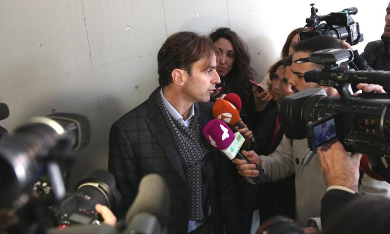Josep Santacana, en el inicio del juicio de divorcio con Arantxa Sánchez Vicario: 'A ver si definitivamente llega el fin'