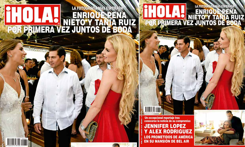 En ¡HOLA México! Enrique Peña Nieto y Tania Ruiz aparecen por primera vez juntos ... ¡en una boda!