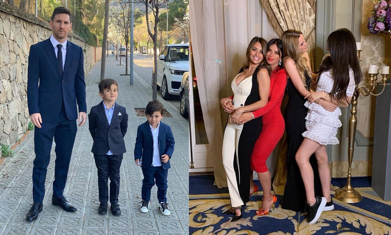 El bautizo con inspiración 'real' de los hijos de Cesc Fábregas al que asistió Messi con su familia