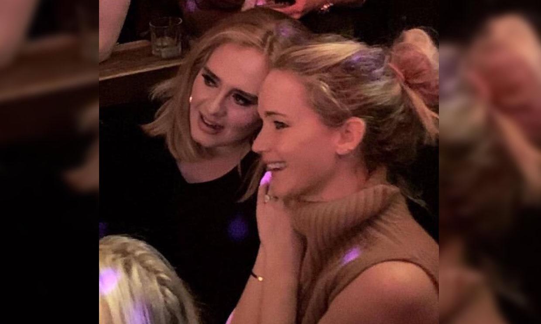 El fiestón de Adele y Jennifer Lawrence