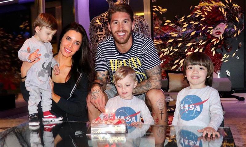 Así han celebrado Pilar Rubio y sus hijos el 33 cumpleaños de Sergio Ramos