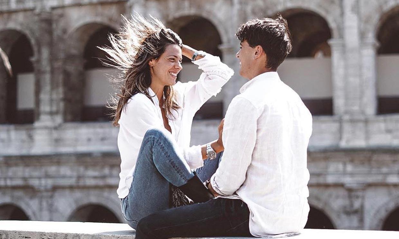Roma, nueva parada del amor 'viajero' de Laura M. Flores y su novio
