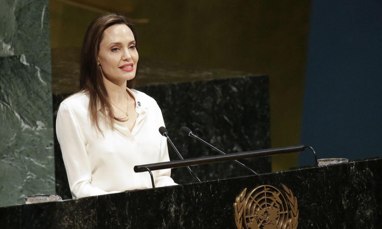 Angelina Jolie reaparece en la ONU con un discurso por la mujer y los refugiados