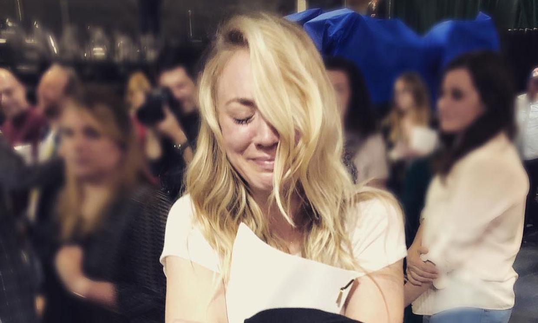 Kaley Cuoco no puede evitar las lágrimas al leer el final de 'The Big Bang Theory'