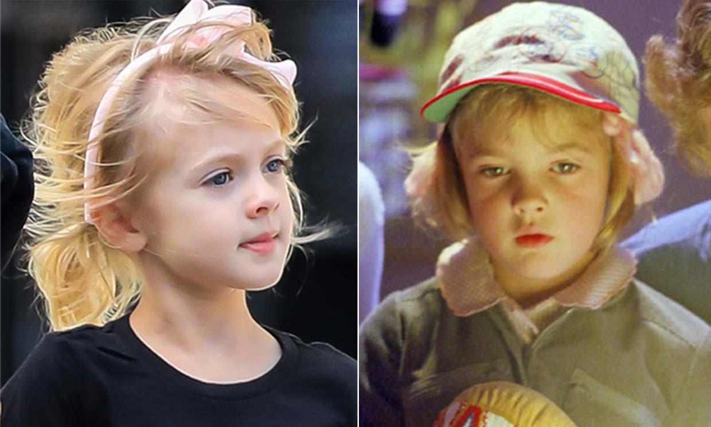 El extraordinario parecido de la hija de Drew Barrymore con la actriz cuando protagonizó 'E.T.'
