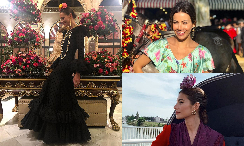FOTOGALERIA: Eva González, Virginia Troconis... las 'celebrities' llenan de color la Feria de Abril