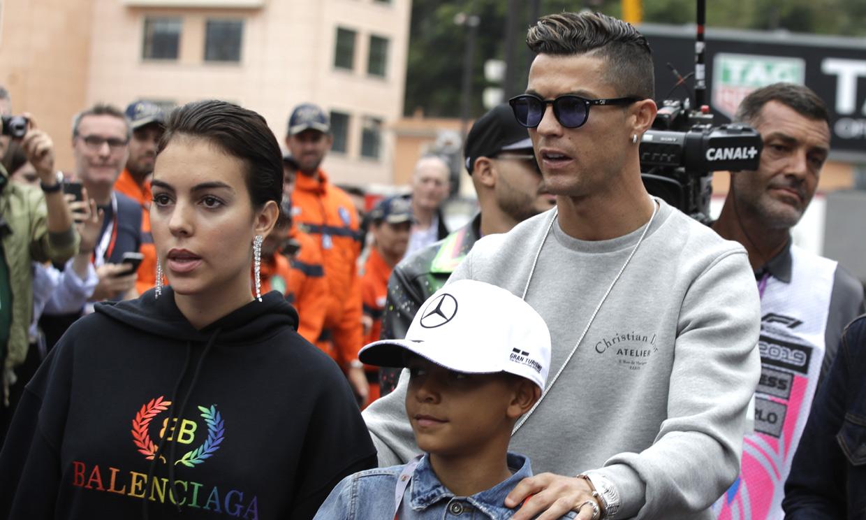 ¡A todo gas! Cristiano y Georgina, unos fanáticos de la velocidad en el circuito de Mónaco