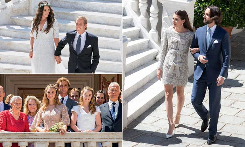 Carlota Casiraghi elige para la imagen oficial de su boda el mismo escenario que sus dos hermanos