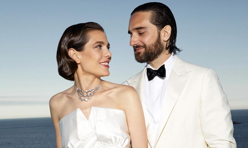Nueva fotografía oficial de Carlota Casiraghi y Dimitri Rassam tras su boda