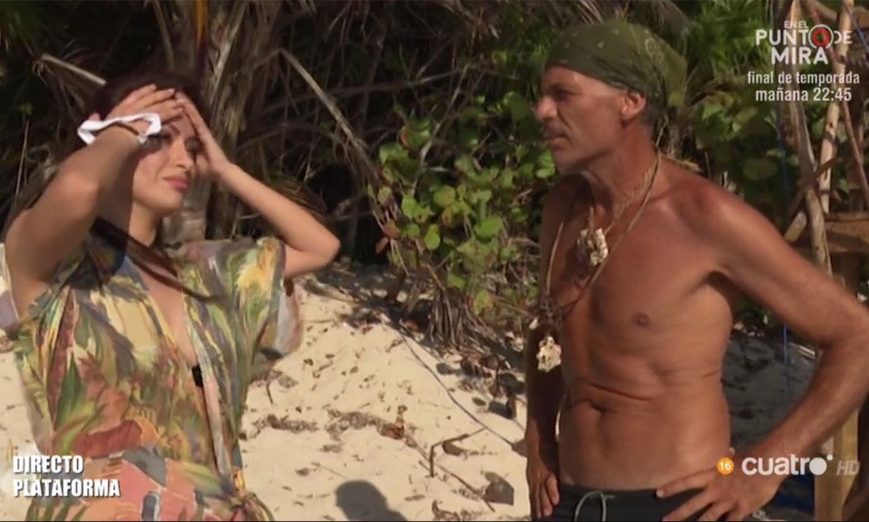 Miriam Saavedra se reencuentra con Carlos Lozano en 'Supervivientes'
