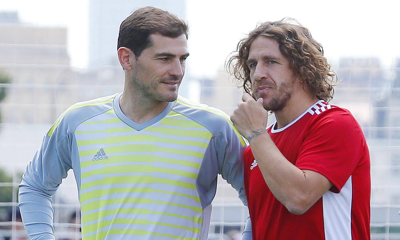 El reencuentro de Iker Casillas y Carles Puyol: 'Qué alegría verte tan bien'