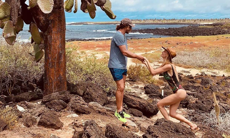 Las románticas vacaciones de Carles Puyol y Vanesa Lorenzo ¿con pedida de mano incluida?