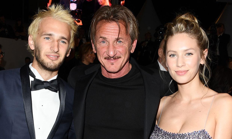 ¡3,2,1...acción! Sean Penn, a escena con sus dos hijos, Dylan y Hopper