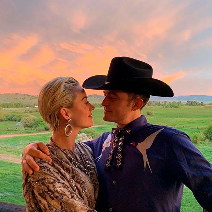 Katy Perry y su 'cowboy' Orlando Bloom en la fiesta de boda de ...